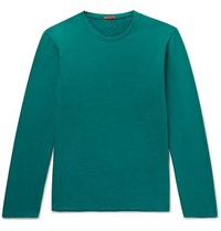 Barena Folpa Loopback Cotton Jersey Sweatshirt Green
