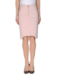 Uniqueness Knee Length Skirts Pink