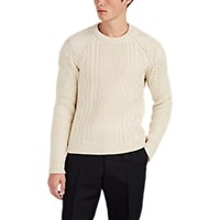 Calvin Klein 205W39nyc Cable Knit Wool Blend Sweater White