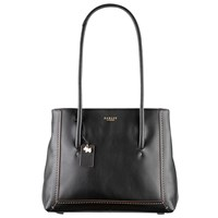 Radley Boundaries Large Leather Shoulder Bag Black
