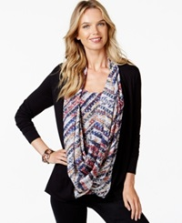 Miraclesuit Layered Look Shaping Scarf Top Diagonal Stripe Multi