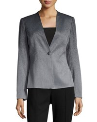 Tahari By Arthur S. Levine Ombre One Button Suiting Jacket Gray Black
