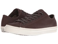 Converse Chuck Taylor All Star Ii Coated Leather Ox Brown Turtledove Lace Up Casual Shoes