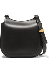 The Row Hunting Bag 9 Leather Shoulder Bag Black