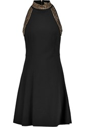 Michael Michael Kors Studded Stretch Jersey Mini Dress Black