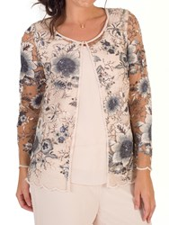 Chesca Sequin And Embroidered Mesh Jacket Blush