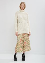 Simone Rocha Patchwork Roll Neck Sweater Cream