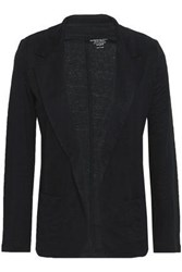 Majestic Filatures Linen Blend Blazer Black