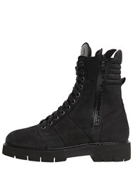 Oxs Leather Combat Boots