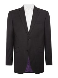 Simon Carter Semi Plain Squares Jacket Grey