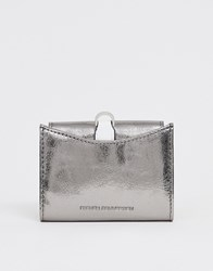 French Connection Demi Accordian Metallic Wallet Silver