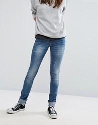 Blend She Glow Kay Skinny Jeans Med Blue Denim