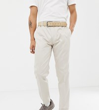 Noak Skinny Fit Suit Trousers In Stone
