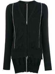 Unconditional Inserted Zip Cardigan Black