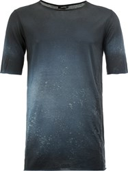 Avant Toi Faded Effect T Shirt Blue