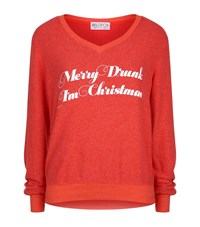 Wildfox Couture Christmas Slogan Jumper Female Red