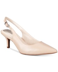 Alfani Women's Babbsy Pointed Toe Slingback Pumps Only At Macy's Women's Shoes Cashew