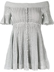 Alice Mccall Magic Mini Dress Silver