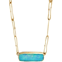 Judy Geib Opal Pendant Necklace
