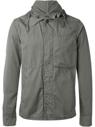 Aspesi Removable Hood Jacket Grey