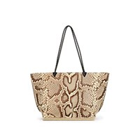 Altuzarra Espadrille Large Python Tote Bag Natural