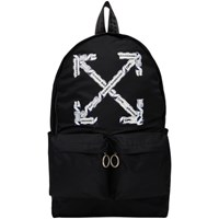 Off White Black Airport Tape Backpack