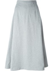 T By Alexander Wang A Line Midi Skirt Grey