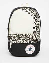 Converse Playback Small Leopard Backpack Black