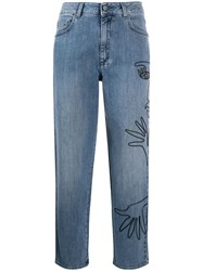 Moschino Cornley Embroidered Cropped Jeans 60