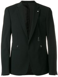 Alyx V Neck Blazer Spandex Elastane Viscose Virgin Wool Black