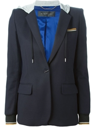 Barbara Bui Hooded Blazer Blue