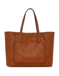 Splendid Key Largo Faux Leather Tote Cognac