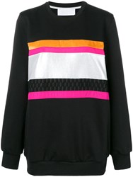 No Ka' Oi Front Stripe Inserts Sweatshirt Black