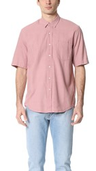 Our Legacy Short Sleeve Classic Silk Shirt Duo Pink