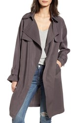 Vigoss Ella Drape Trench Coat Rock