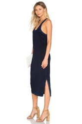 Cotton Citizen Mykonos Midi Dress Navy