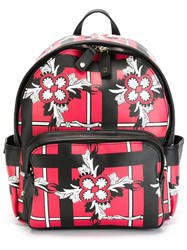 Dsquared2 Floral Print Backpack Black
