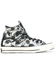 Converse Polka Dot Hi Top Sneakers Black