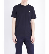 Paul Smith Ps By Zebra Cotton Jersey T Shirt Navy