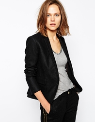 Zadig And Voltaire Blazer In Wool With Military Buttons Anthracitegrey