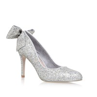 Miss Kg Coral High Heel Court Shoes Silver