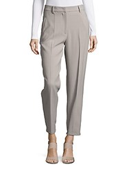 Brunello Cucinelli Ankle Length Solid Pants Grey
