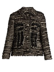 Simone Rocha Textured Tweed Jacket Black White