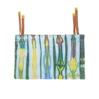 Kin Lab Collective Leather Tie Dye Clutch