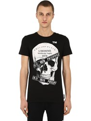 Philipp Plein Printed And Embellished Cotton T Shirt Array 0X585ecc8