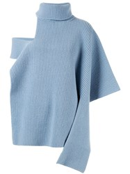 Ports 1961 Roll Neck Knitted Top Blue