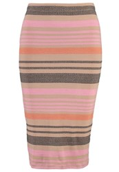 Storm And Marie Lulu Pencil Skirt Tanned Beige