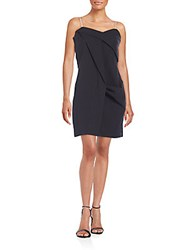Marc By Marc Jacobs Summer Draped Cotton Mini Dress Black