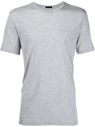 Atm Anthony Thomas Melillo Jersey Crew Neck T Shirt Grey