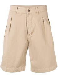 Doppiaa Wide Leg Chinos Shorts Nude And Neutrals